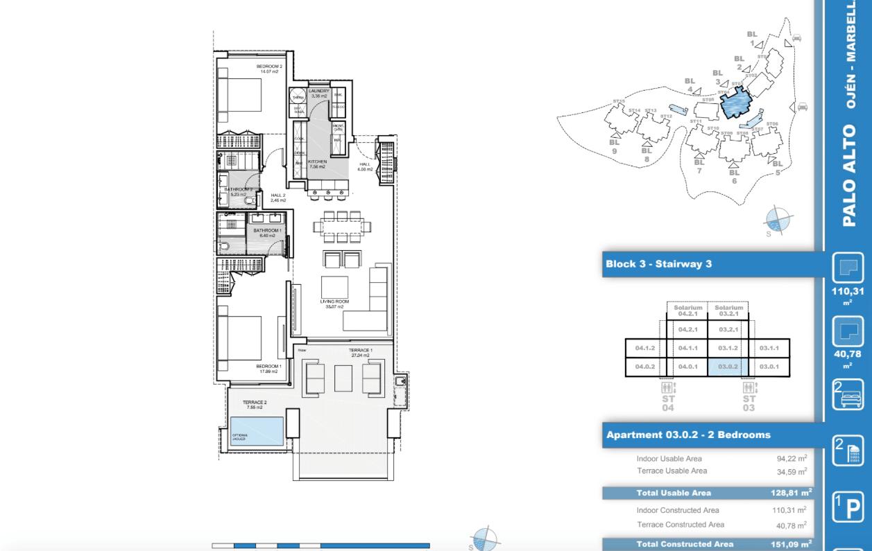 palo alto ojen marbella nieuwbouw resort luxe te koop appartement penthouse modern grondplan los almendros I slaapkamers 2 gelijkvloers