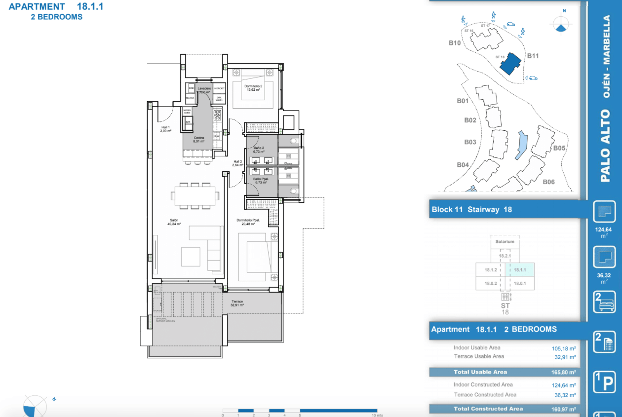palo alto ojen marbella nieuwbouw resort luxe te koop appartement penthouse modern grondplan los almendros I slaapkamers 2 tussenverdieping