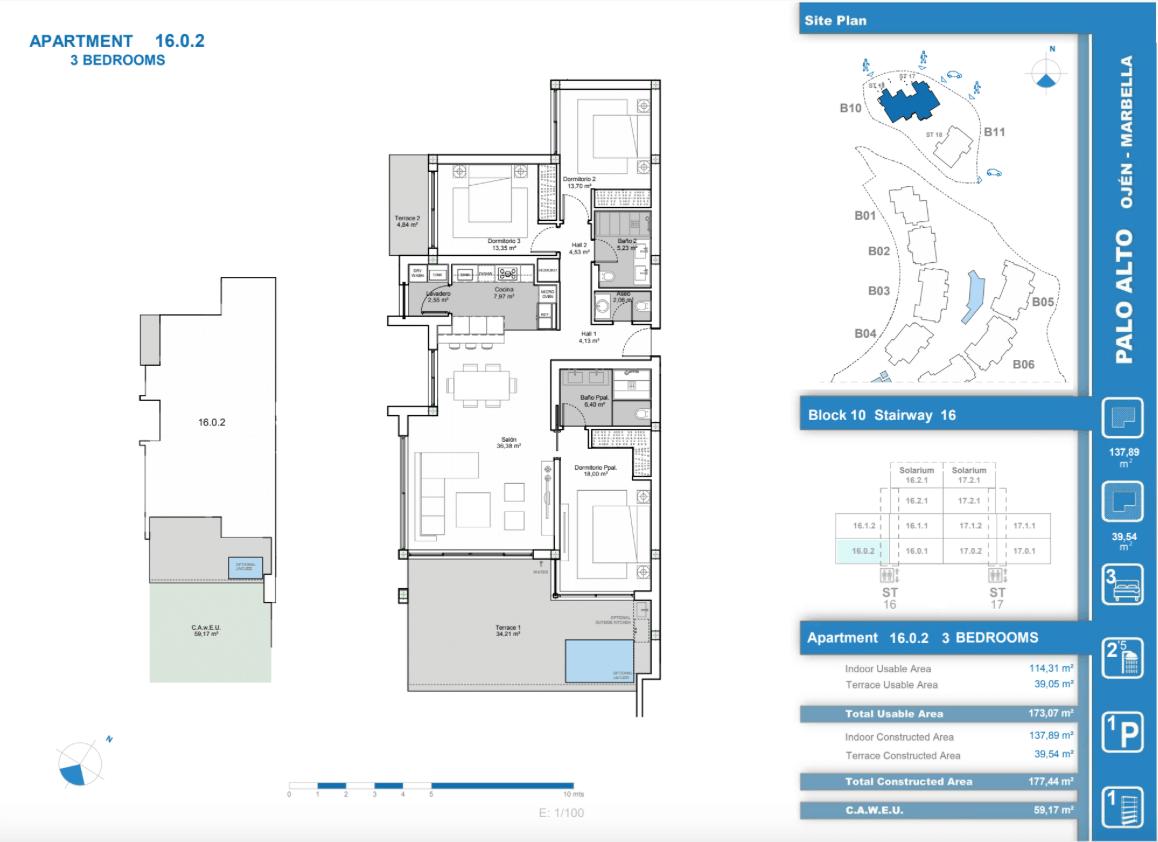 palo alto ojen marbella nieuwbouw resort luxe te koop appartement penthouse modern grondplan los almendros II slaapkamers 3