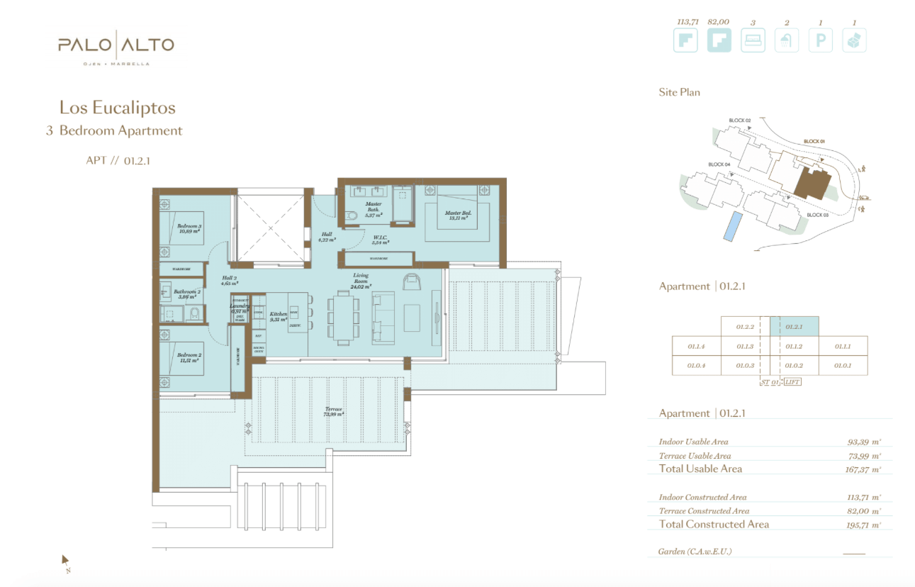 palo alto ojen marbella nieuwbouw resort luxe te koop appartement penthouse modern grondplan los eucaliptos slaapkamers 3 PH