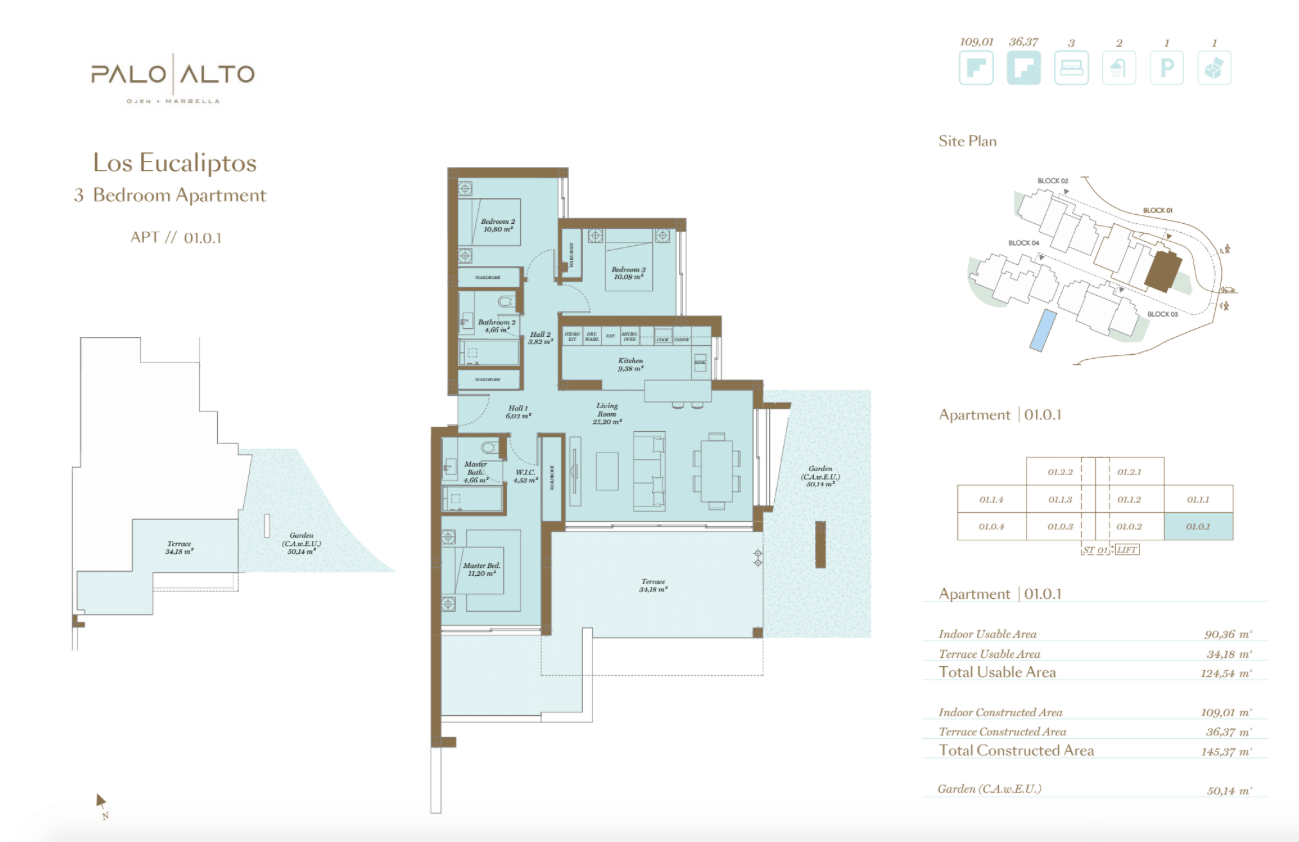 palo alto ojen marbella nieuwbouw resort luxe te koop appartement penthouse modern grondplan los eucaliptos slaapkamers 3