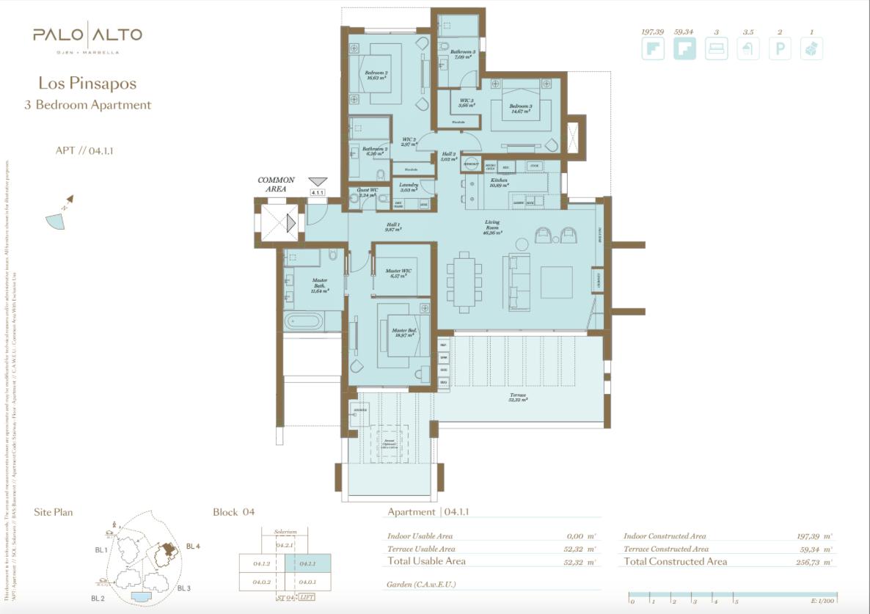palo alto ojen marbella nieuwbouw resort luxe te koop appartement penthouse modern grondplan los pinsapos slaapkamers 3 tussenverdieping