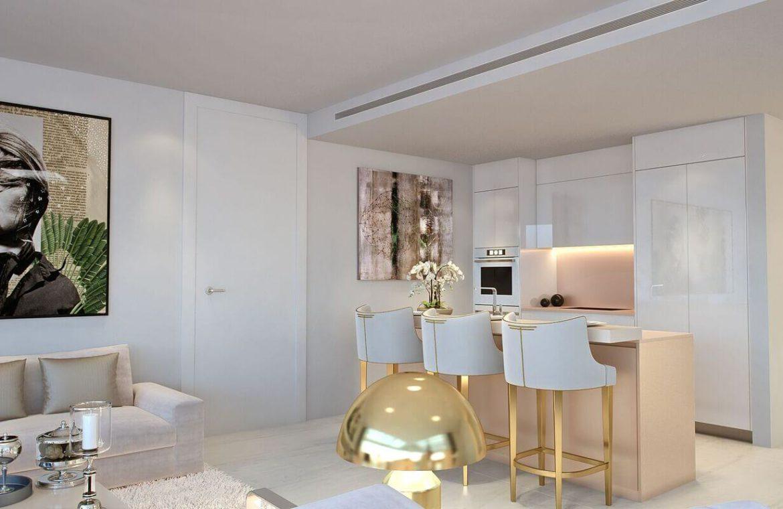 palo alto ojen marbella nieuwbouw resort luxe te koop appartement penthouse modern las jacarandas keuken