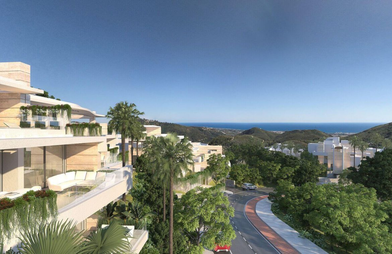palo alto ojen marbella nieuwbouw resort luxe te koop appartement penthouse modern las jacarandas ligging