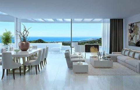 Palo Alto: superstrakke nieuwbouw penthouses net boven Marbella (Ojen)