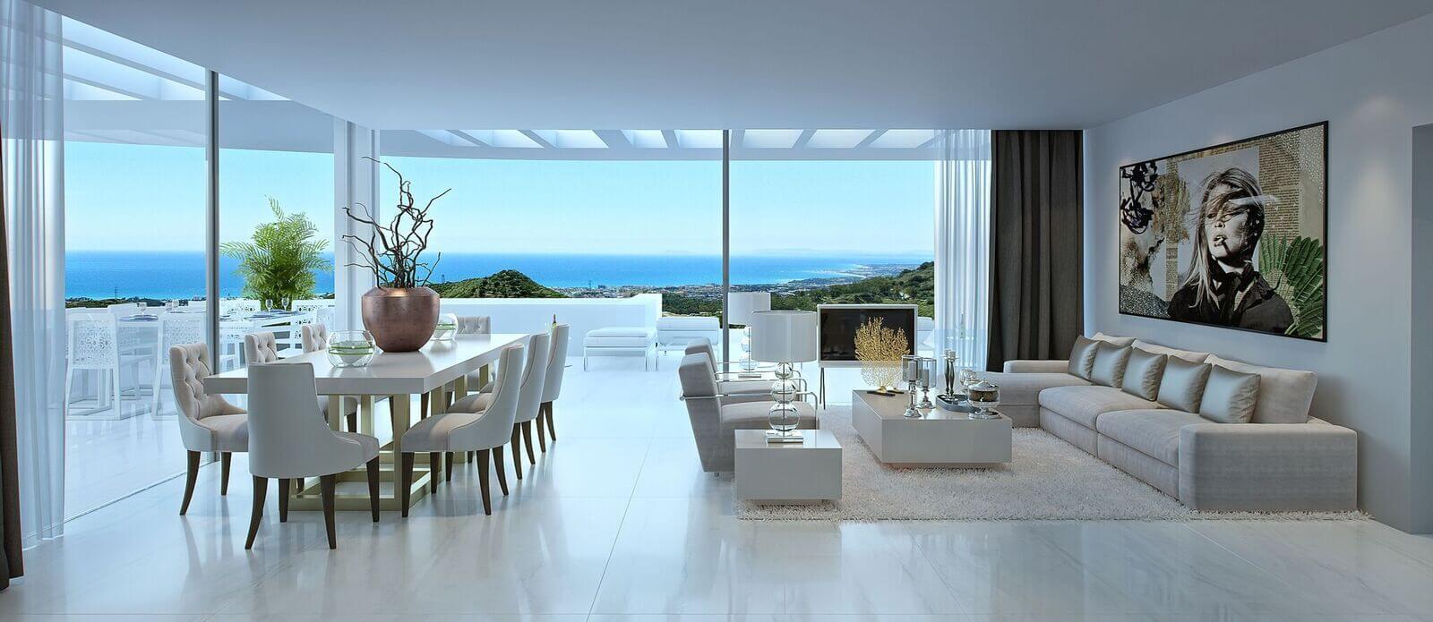 palo alto ojen marbella nieuwbouw resort luxe te koop appartement penthouse modern las jacarandas living