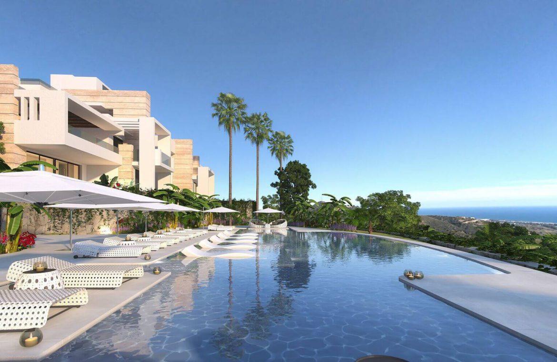 palo alto ojen marbella nieuwbouw resort luxe te koop appartement penthouse modern los pinsapos zeezicht