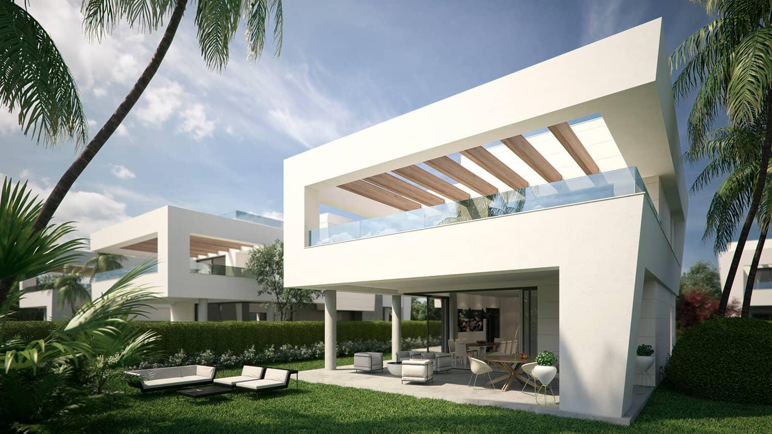 Perlas del mar: moderne nieuwbouw villas bij zee & centrum san pedro