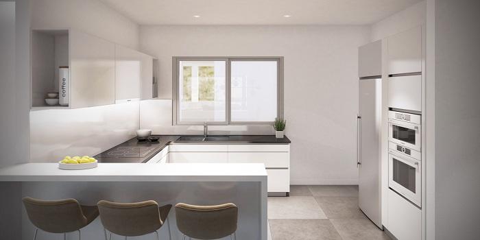 scenic appartement penthouse kopen estepona wandelafstand haven zeezicht keuken