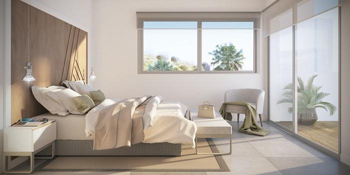 scenic appartement penthouse kopen estepona wandelafstand haven zeezicht slaapkamer