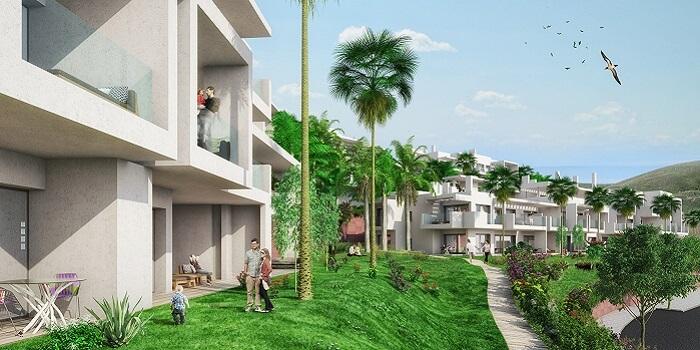 scenic appartement penthouse kopen estepona wandelafstand haven zeezicht tuin