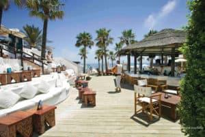 Bar aan het strand van Elviria