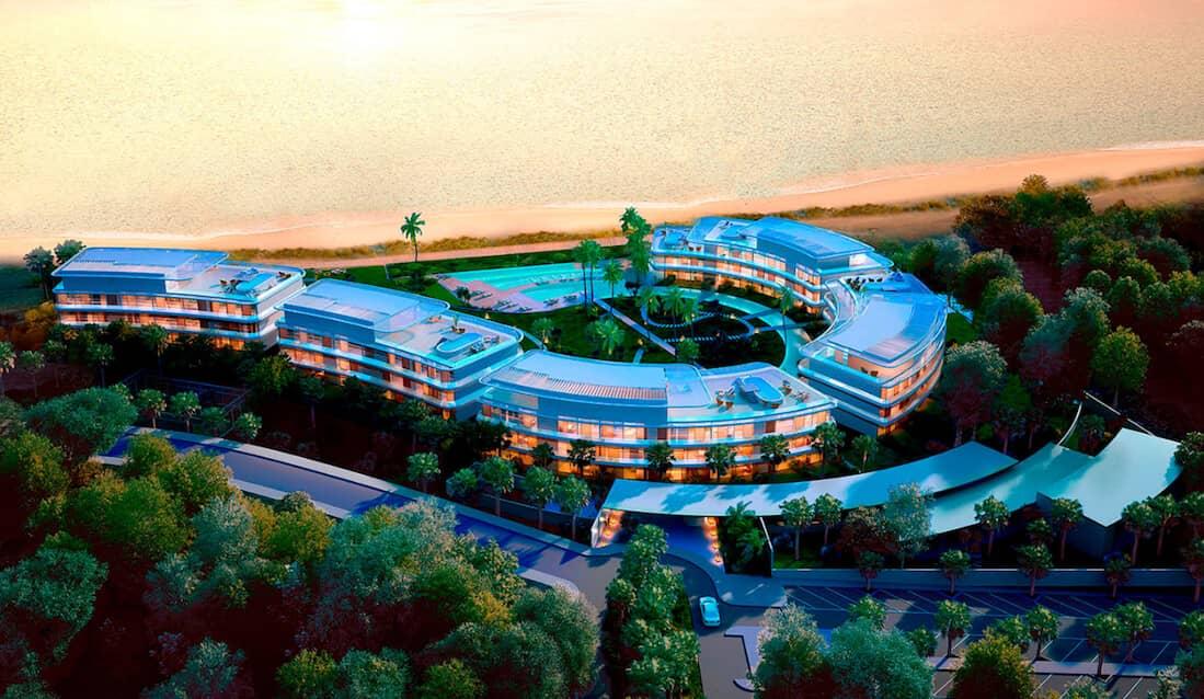 the edge estepona appartement eerstelijns strand zeezicht huis kopen marbella bovenaanzicht