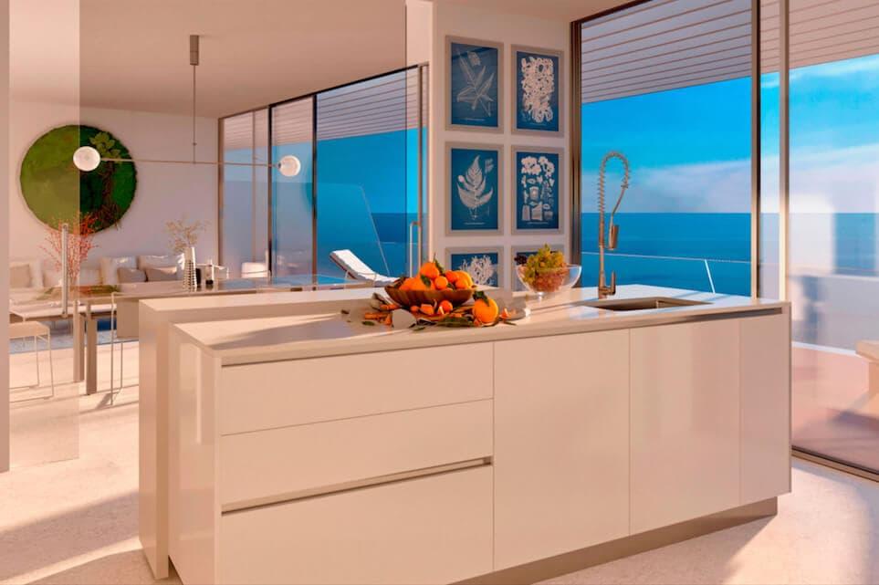 the edge estepona appartement eerstelijns strand zeezicht huis kopen marbella keuken