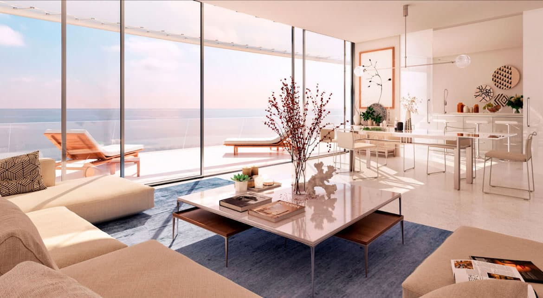the edge estepona appartement eerstelijns strand zeezicht huis kopen marbella living