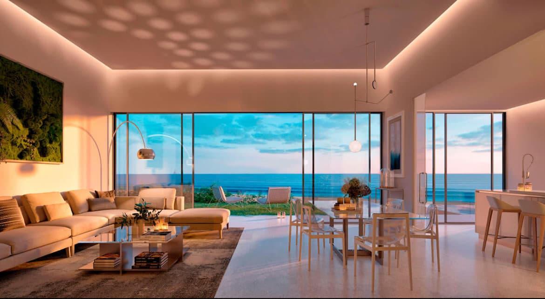 the edge estepona appartement eerstelijns strand zeezicht huis kopen marbella living keuken