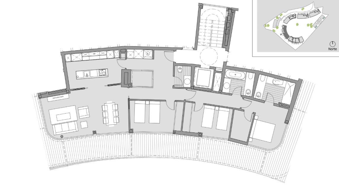 the edge estepona penthouse te koop grondplan