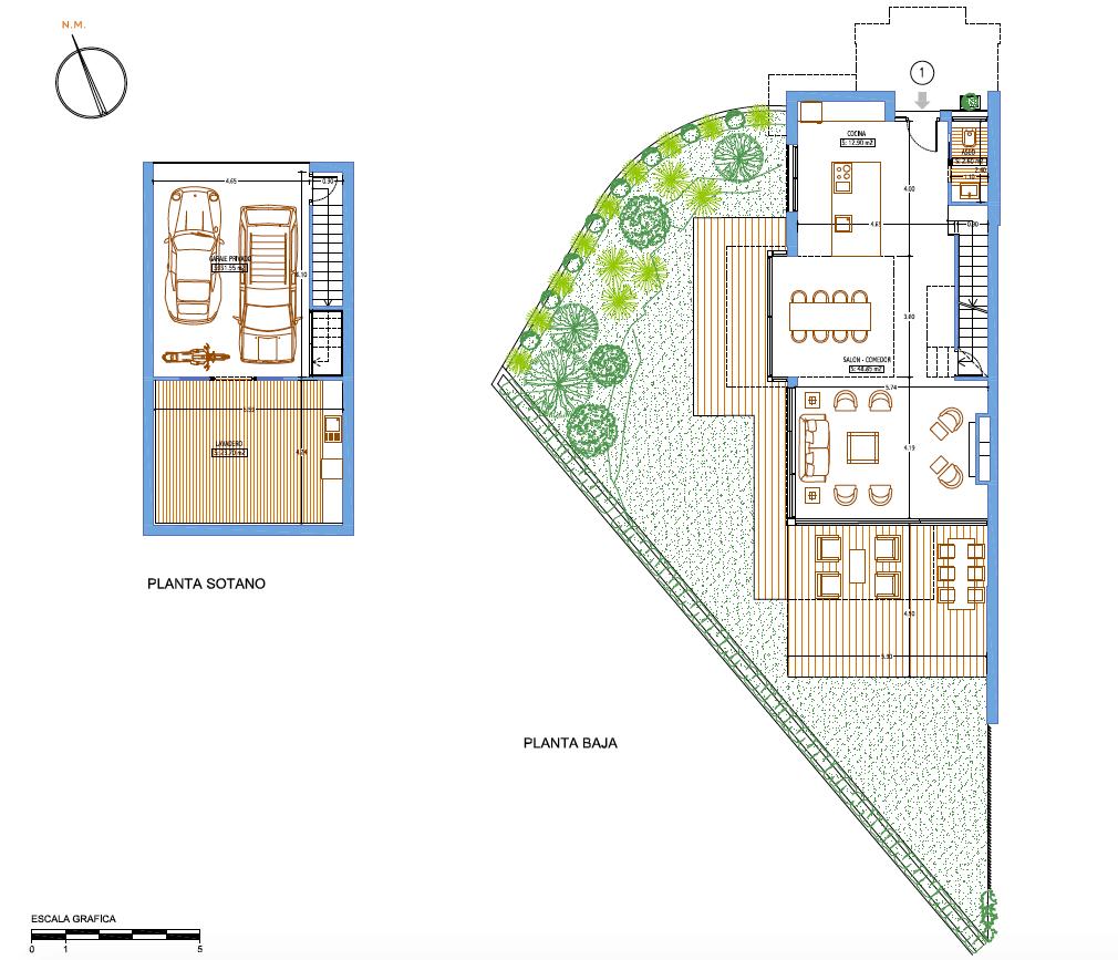the island estepona eerstelijns strand huis grondplan