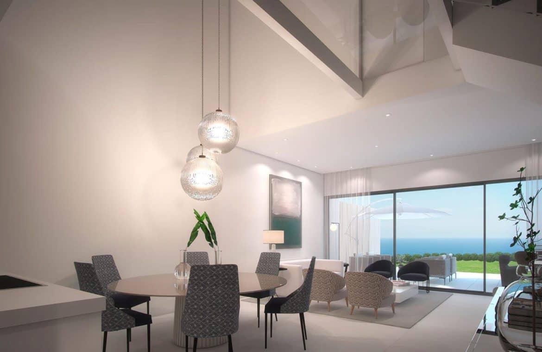 the island estepona eerstelijns strand huis living