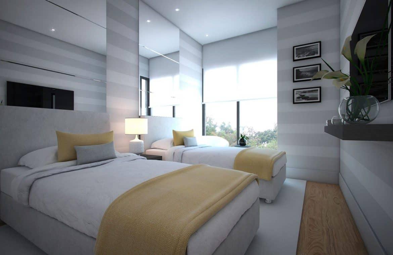the island estepona eerstelijns strand huis slaapkamer