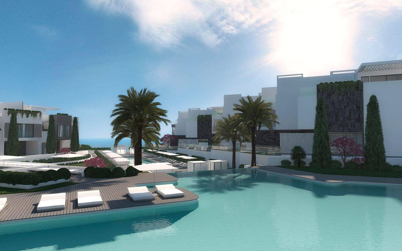 the island estepona eerstelijns strand huis zwembad