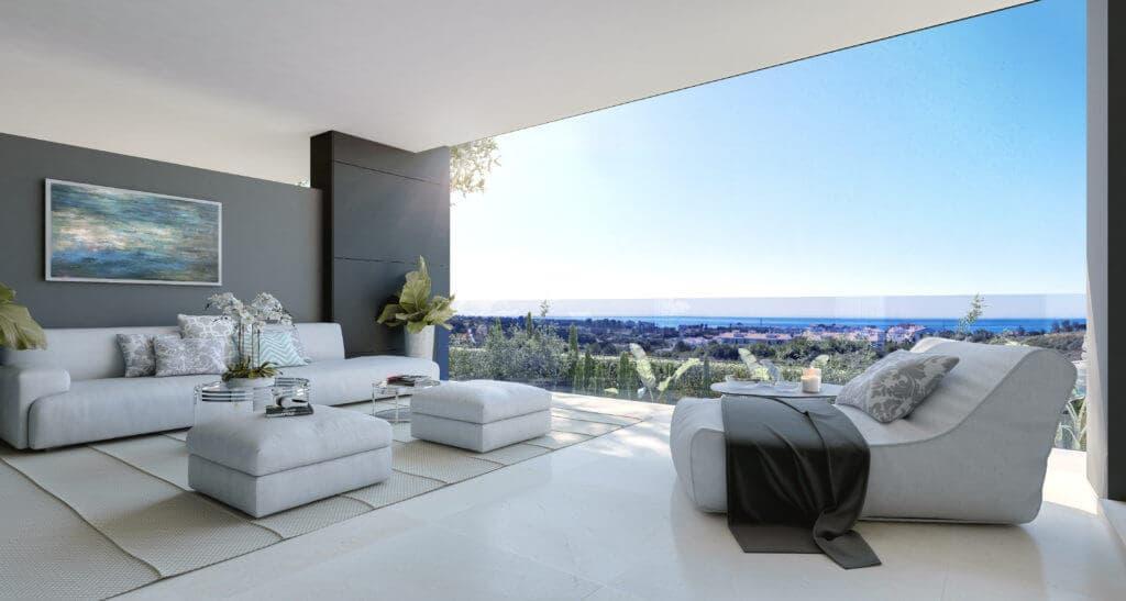 vanian green selwo new golden mile appartement kopen terras