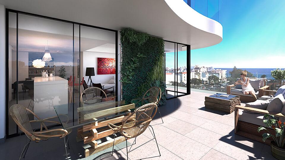 infinity modern appartement kopen estepona terras zeezicht