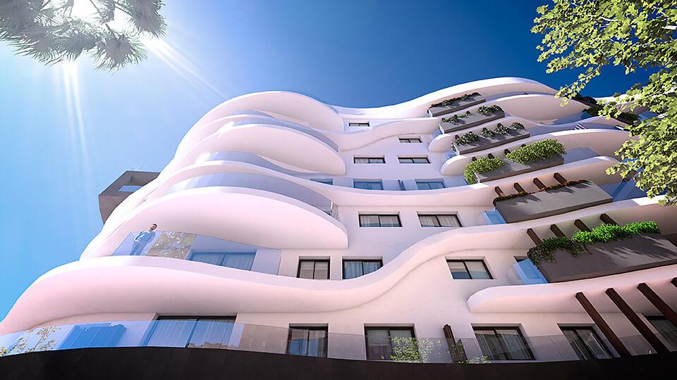 infinity modern appartement kopen estepona terras