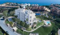 Larimar Las Lagunas de Mijas luxe appartementen te koop zeezicht bovenaanzicht
