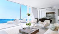 Larimar Las Lagunas de Mijas luxe appartementen te koop zeezicht salon