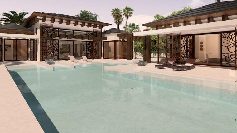 belair estepona moderne villa zeezicht zuidgericht te koop zwembad