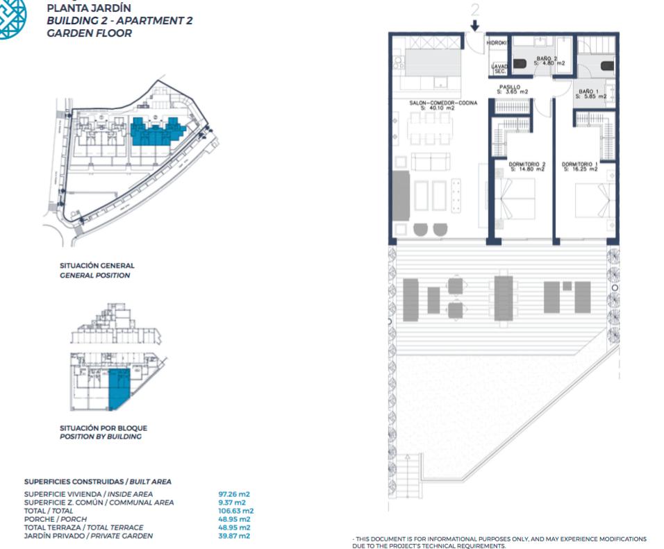el campanario hills estepona modern appartement te koop grondplan gelijkvloers 2 slaapkamers