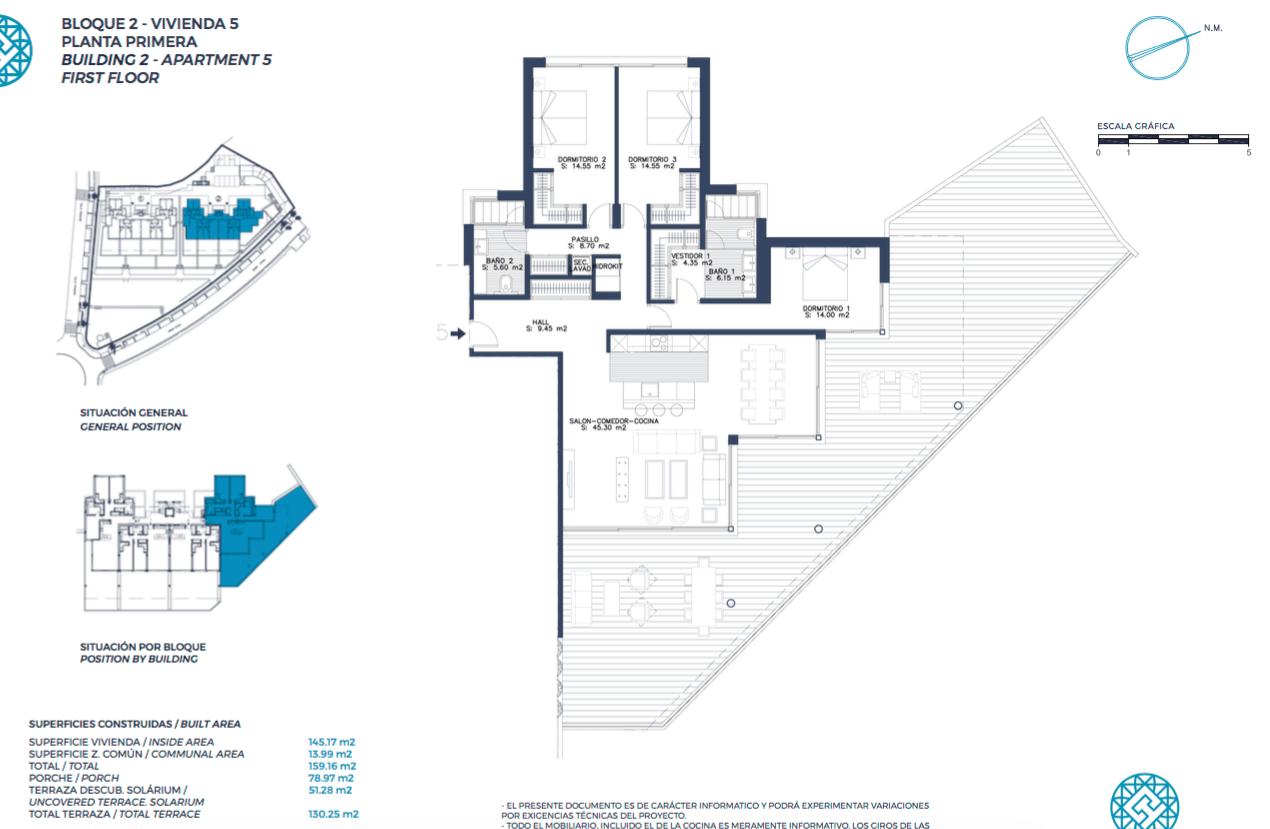 el campanario hills estepona modern appartement te koop grondplan gelijkvloers 3 slaapkamers