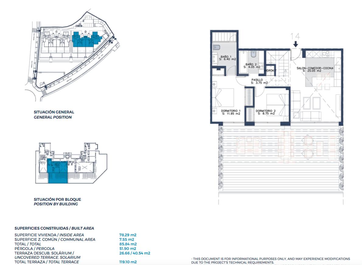 el campanario hills estepona modern appartement te koop grondplan tussenverdieping 2 slaapkamers