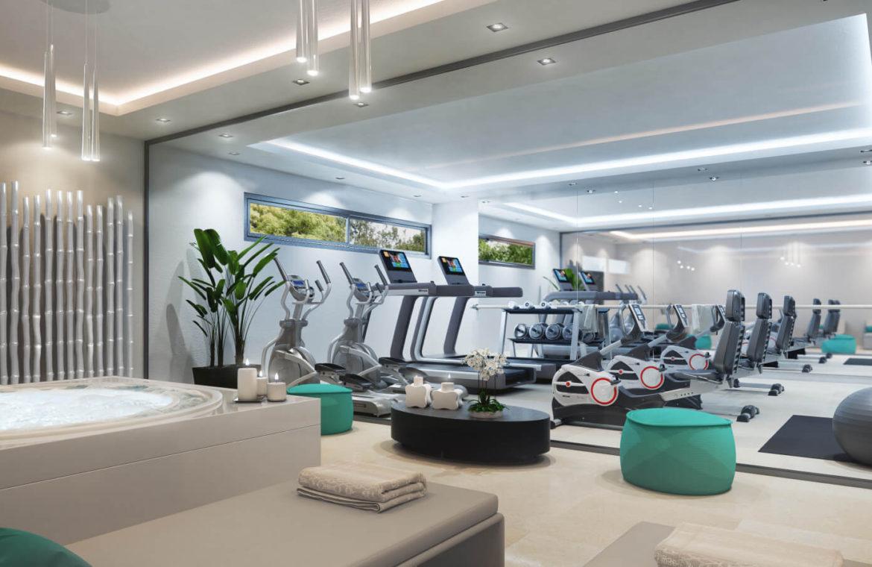 el campanario hills estepona modern appartement te koop gym