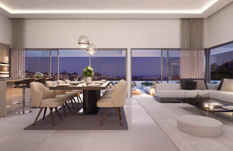 el campanario hills estepona modern appartement te koop salon