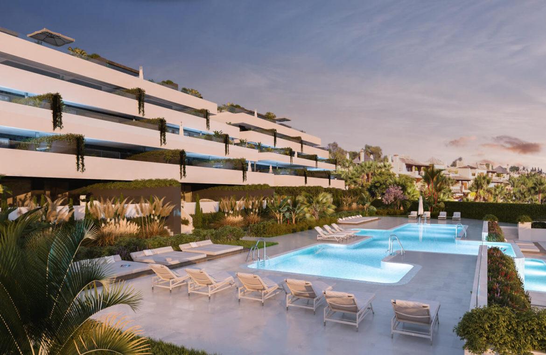 el campanario hills estepona modern appartement te koop zwembaden