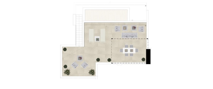 grand view la cala golf marbella oost appartement kopen grondplan 3 slaapkamers penthouse