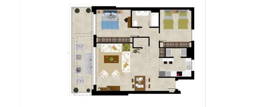 grand view la cala golf marbella oost appartement kopen grondplan duplex 3 slaapkamers