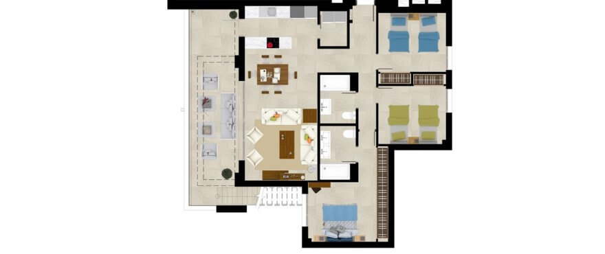 grand view la cala golf marbella oost appartement kopen grondplan penthouse 3 slaapkamers