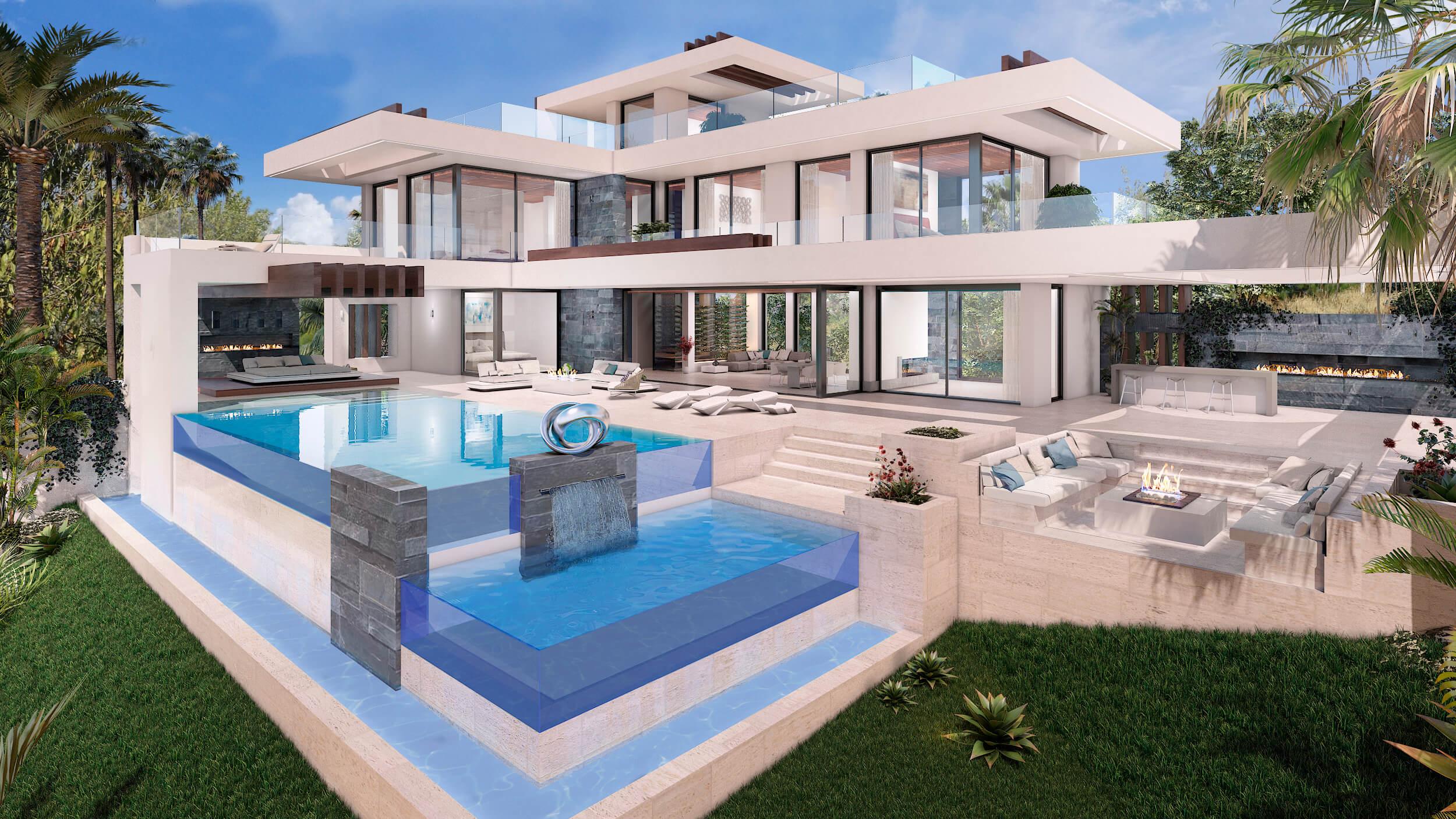 la alqueria benahavis hedendaagse villa kopen zwembad