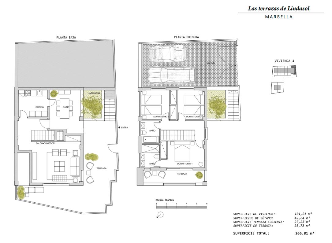 las terrazas de lindasol marbella huis te koop rijhuis grondplan 1