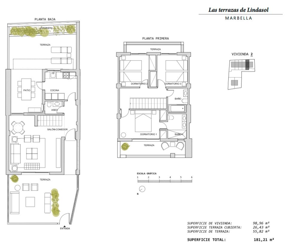 las terrazas de lindasol marbella huis te koop rijhuis grondplan 2