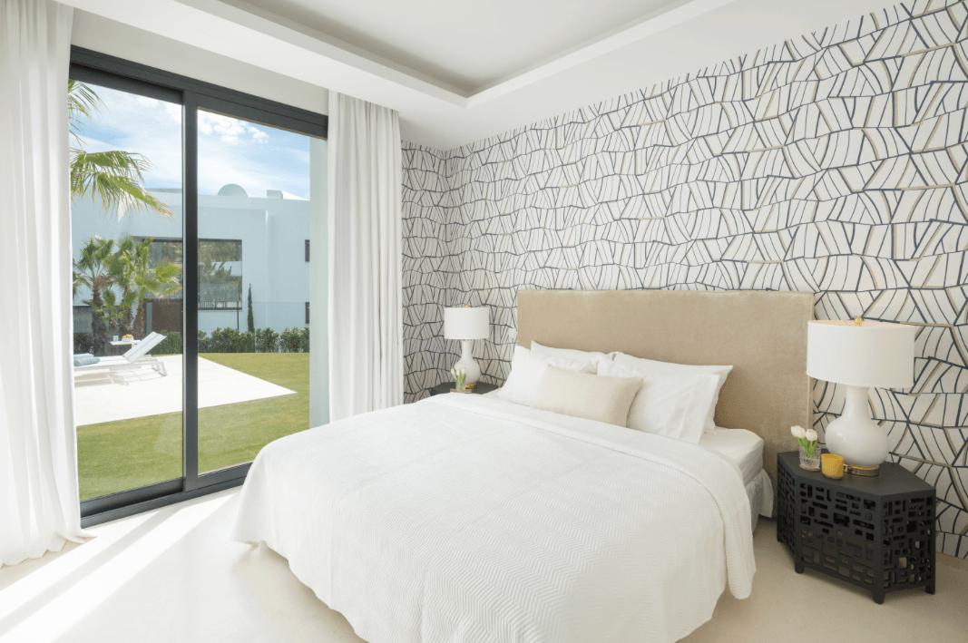los olivos del paraiso benahavis moderne nieuwbouw villa te koop gasten slaapkamer