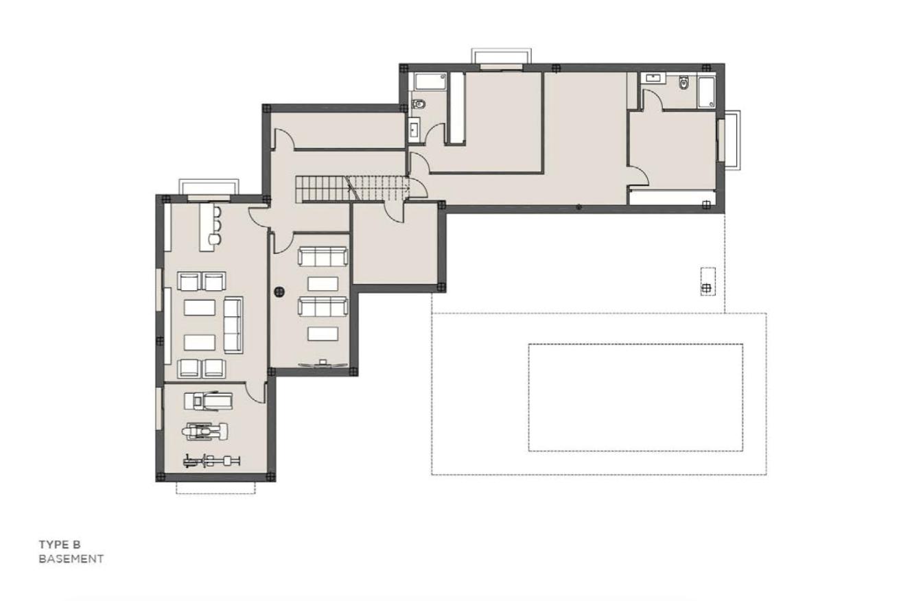 los olivos del paraiso benahavis moderne nieuwbouw villa te koop grondplan type b kelder