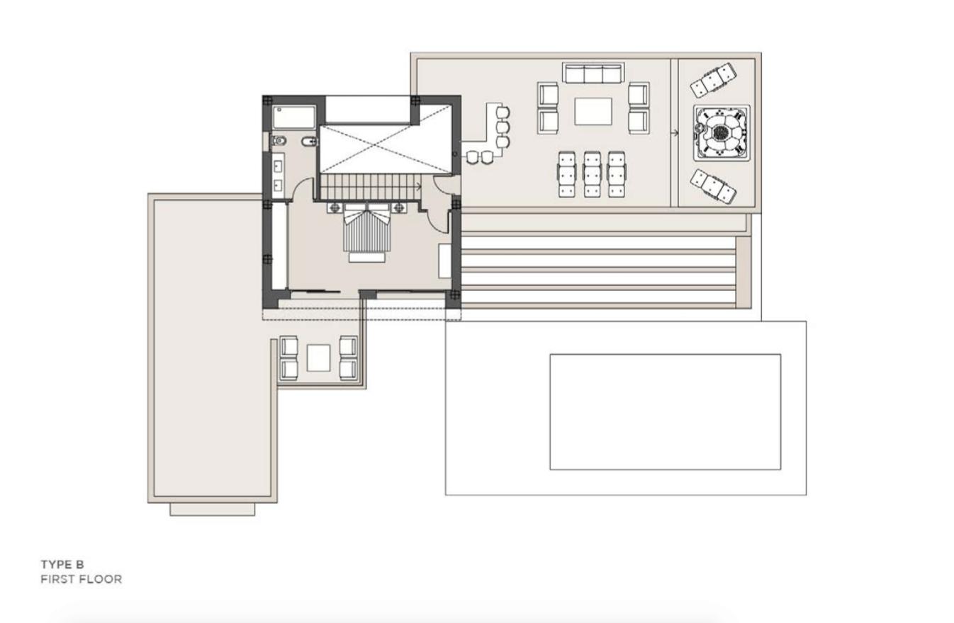los olivos del paraiso benahavis moderne nieuwbouw villa te koop grondplan type b verdieping