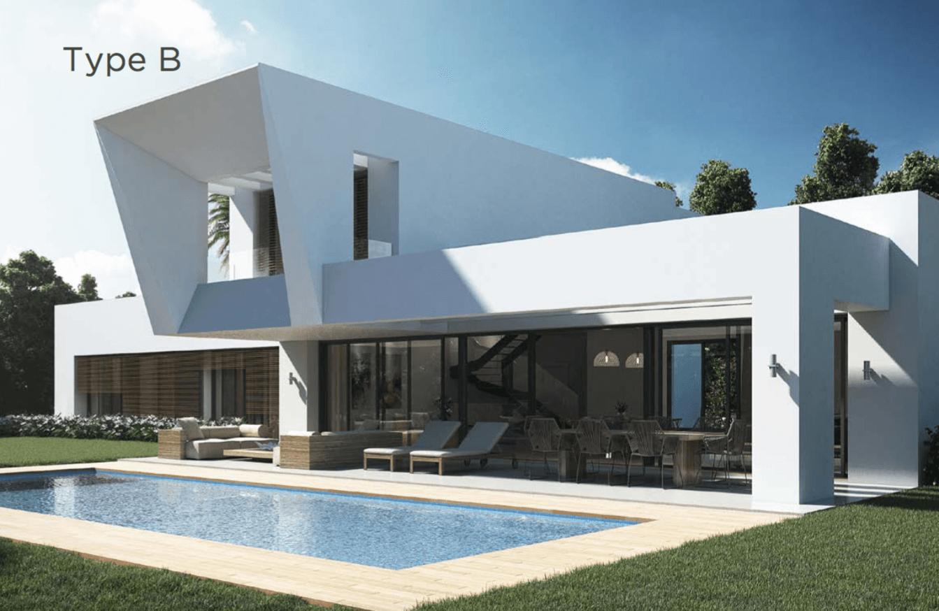 los olivos del paraiso benahavis moderne nieuwbouw villa te koop grondplan type b