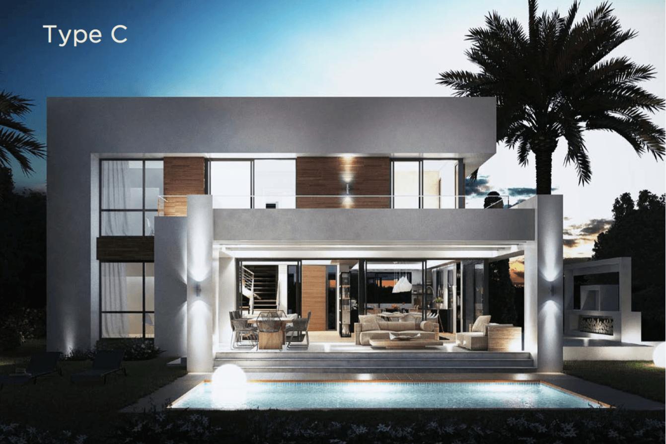 los olivos del paraiso benahavis moderne nieuwbouw villa te koop grondplan type c