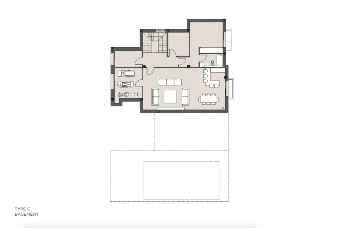 los olivos del paraiso benahavis moderne nieuwbouw villa te koop grondplan type c kelder