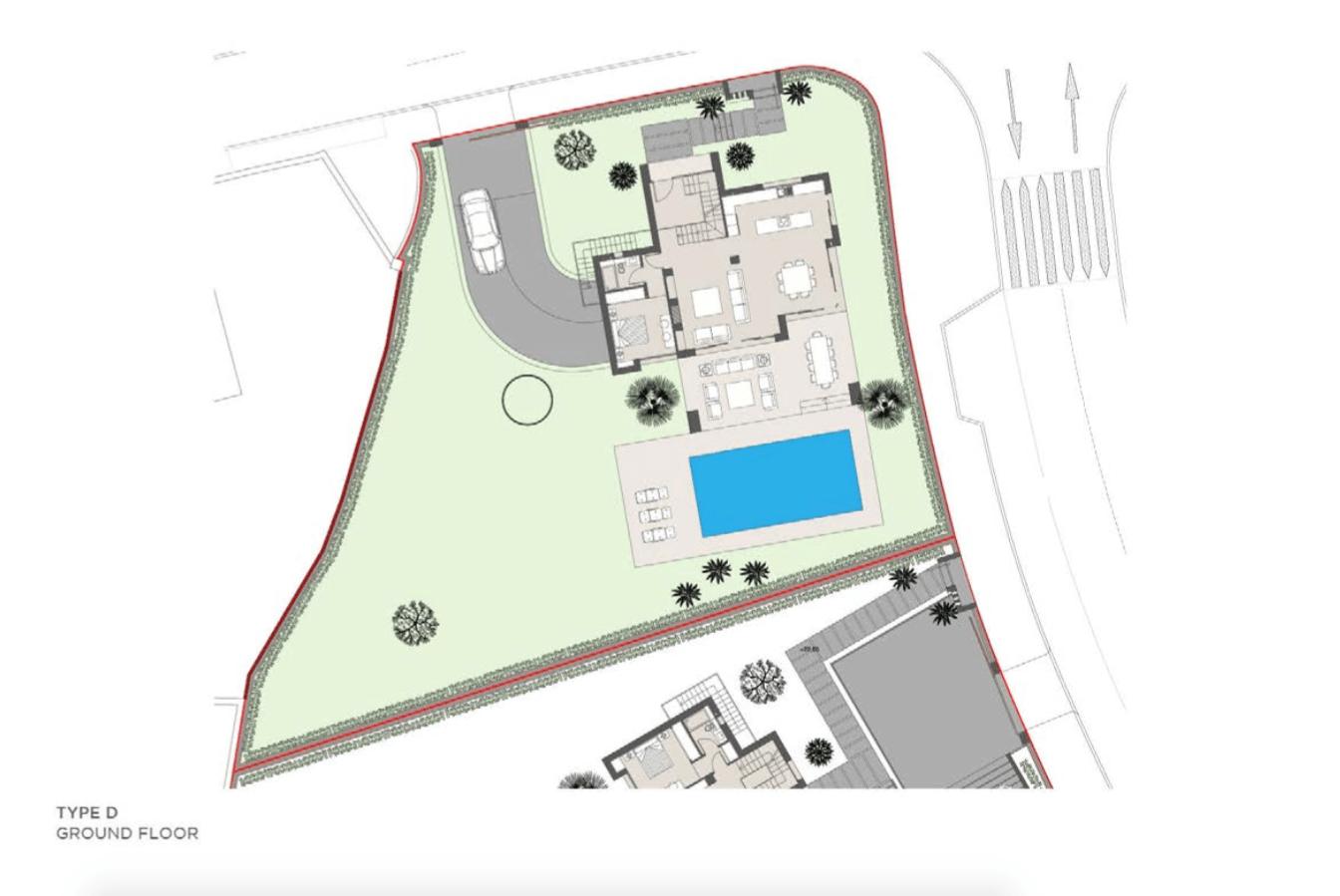 los olivos del paraiso benahavis moderne nieuwbouw villa te koop grondplan type d gelijkvloers